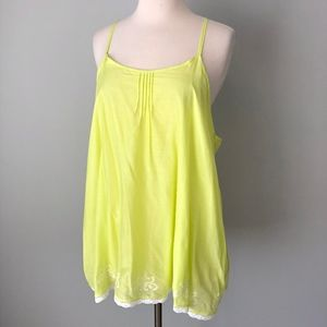 Calypso St Barth Target | Yellow Lace Trim Top